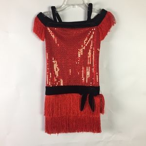 Girls Flapper Halloween Dance Costume Size 7-8